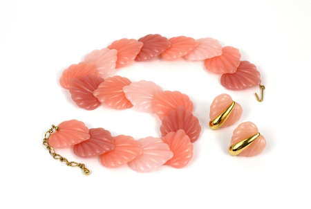 predominant: An old attractive simple colorful shell necklace.