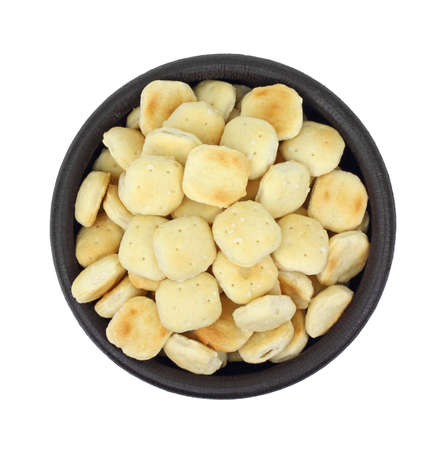 A great overhead view of oyster crackers. photo