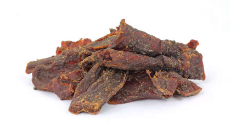 satisfying: A stack of smoke flavored beef jerky.