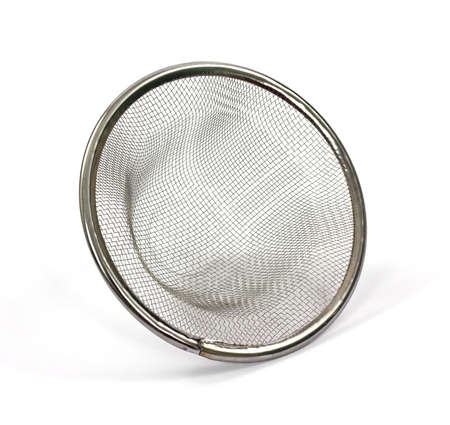 A handy mesh sink strainer that fits directly in the drain. Stock Photo - 9252828