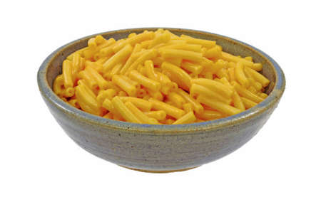 A delicious bowl of macaroni and cheese. photo