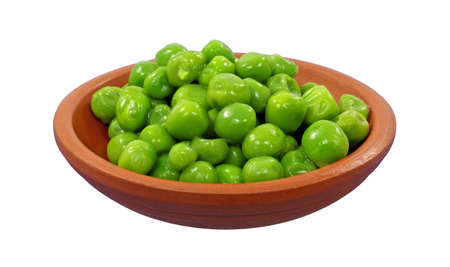 A serving of cooked fresh frozen green peas. Stock Photo - 9745669