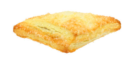 turnover: A great front view of a filled danish turnover.