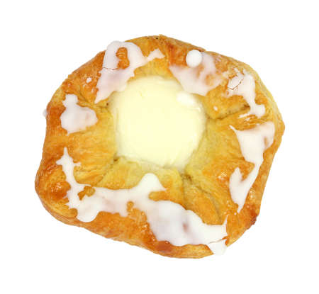 tempting: An overhead view of a tempting cheese danish pastry. Stock Photo