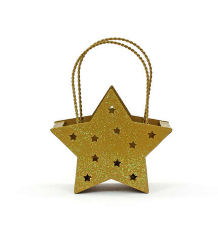 votive candle: A front view of a star shaped votive candle holder.