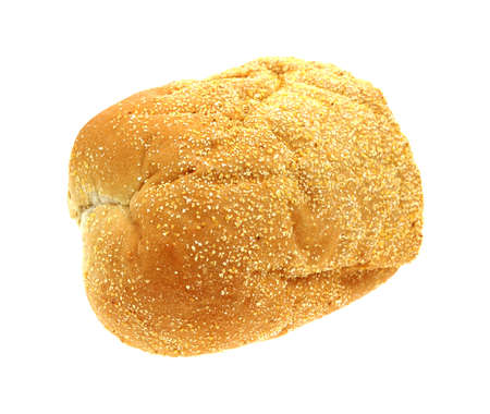 french roll: An overhead view of a large single french roll.
