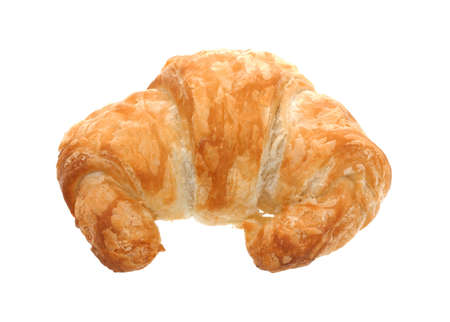 satisfying: A nice view of a light flaky golden brown croissant.