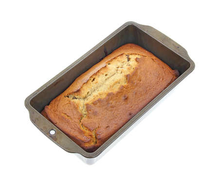 tempting: A tempting loaf of fresh baked date bread. Stock Photo