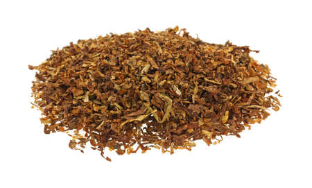 tobacco plants: A mound of mint flavored pipe tobacco.