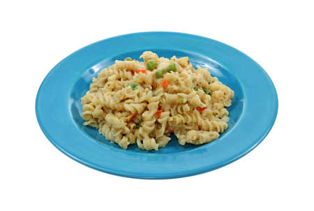 tempting: Tempting creamy rotini pasta with vegetables
