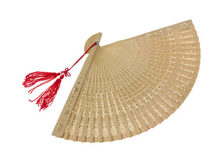 An oriental fan with a very delicate cut design  Stock Photo - 13443639