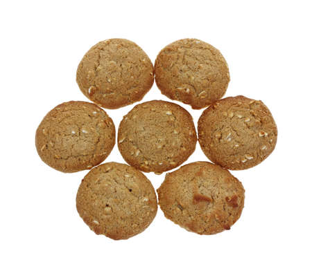 A group of tasty small oatmeal cookies  Stock Photo - 13774909