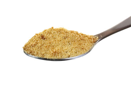 heaping: A heaping spoon full of coconut palm sugar granules