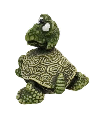 loveable: A back view of the inquisitive hefty turtle paperweight. Stock Photo