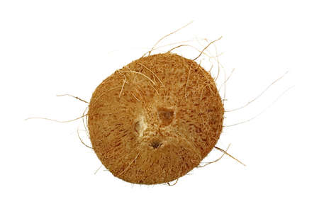 A large coconut with the three indentations to puncture for milky fluid inside  Stock Photo - 15701380