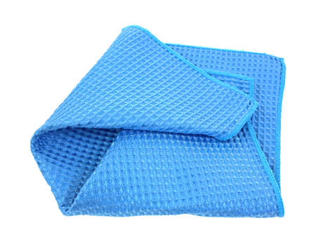 microfibra: Un waffle tejer tela de microfibra azul plato Foto de archivo
