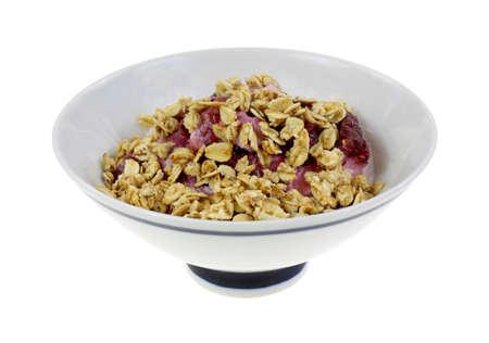 nonfat: Nonfat black cherry yogurt topped with granola.