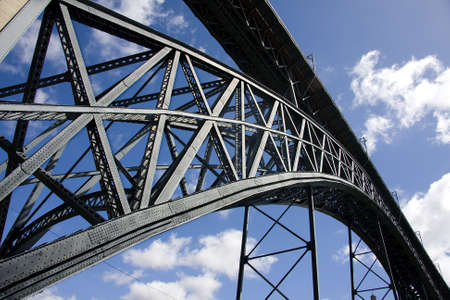 porto: iron bridge, porto, portugal