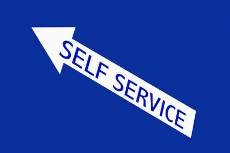 self service Foto de archivo