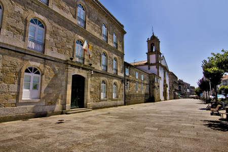 tui, pontevedra, galicia, espa�a, detalles de la ciudad photo