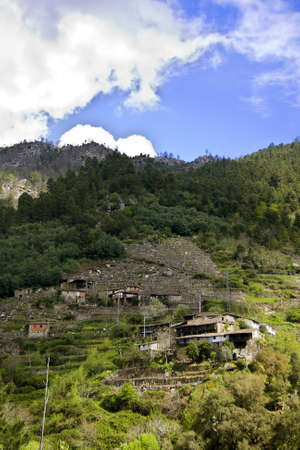 sil: nature and landscapes of the Ribeira Sacra, Orense, Galicia, Spain Stock Photo