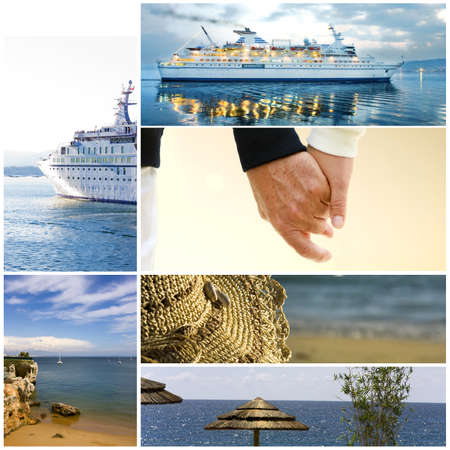 cruisevakantie Stockfoto