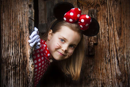 girl with mouse costume photo