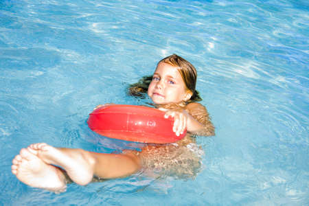 girl in the pool photo