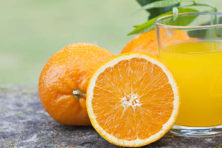 orange juice, health and balanced diet photo