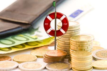 Het redden van de economie Stockfoto - 10129881