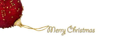 feliz: Feliz Navidad postal con bola roja