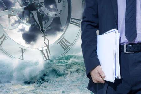 tiempo y de negocios Stock Photo