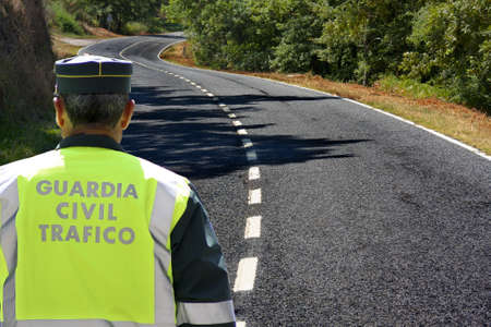 español el tráfico de la Guardia Civil Stock Photo - 10129889