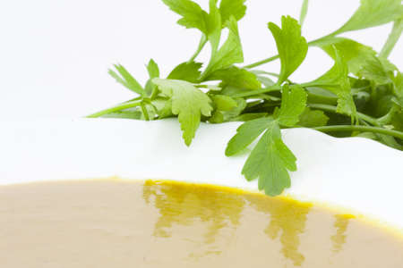 creamed: parsley creamed vegetables dish