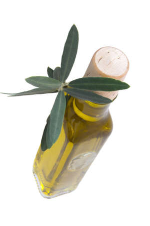 fresh olive oil bottle isolated Stock Photo - 11066031