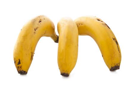 fresh banana fruit isolated on white background photo