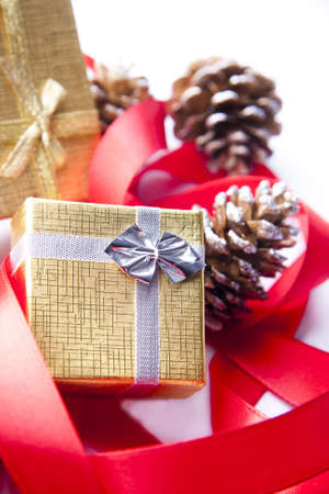 ribbon and tie for Christmas gifts photo