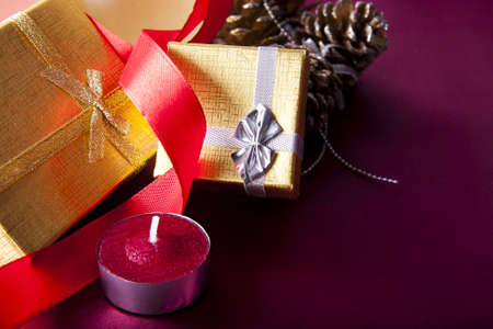 gifts and decorations for Christmas photo