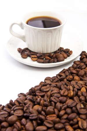 Taza de café Granos de café y tostado