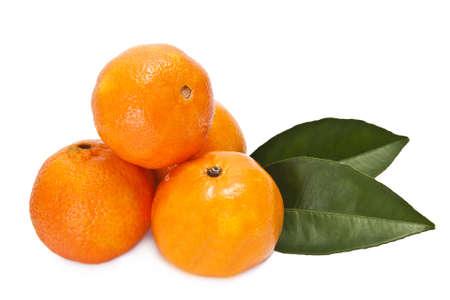 naranja sobre fondo blanco Stock Photo