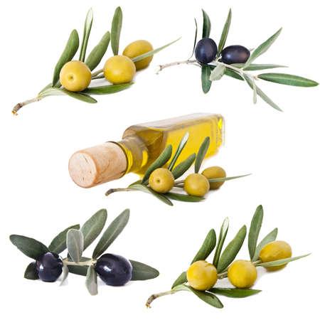 Te stellen olijven en olie Stockfoto - 11562157
