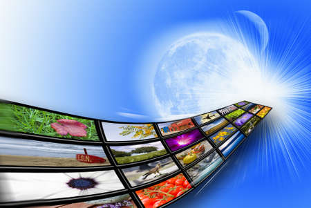 Netwerken, internet en hier draadloze communicatie Stockfoto - 11866617