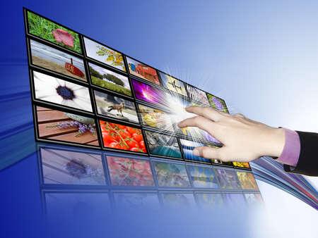 Touch-screen communicatie, technologie en ontwikkeling Stockfoto - 11915757