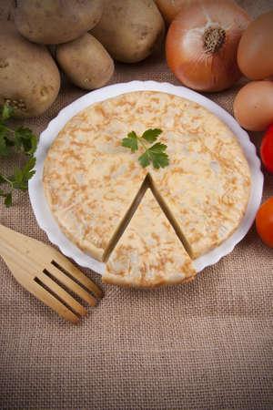 spanish potato omelette photo