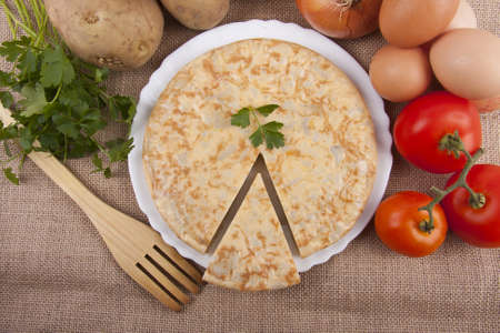 spanish potato omelette photo