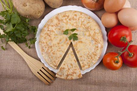 spanish potato omelette Reklamní fotografie