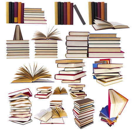 collection and set of books Stock Photo