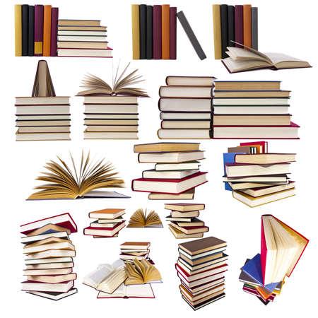 Verzamelen en een reeks boeken Stockfoto - 12598707