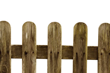 old wooden fence of the garden photo