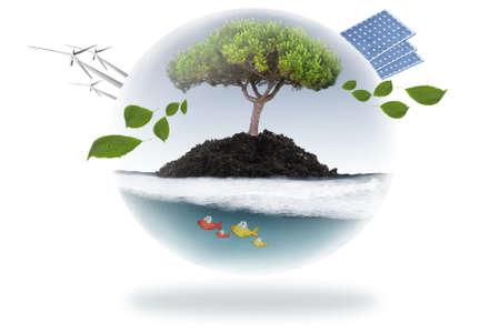 competitividad: concepto de energía renovable